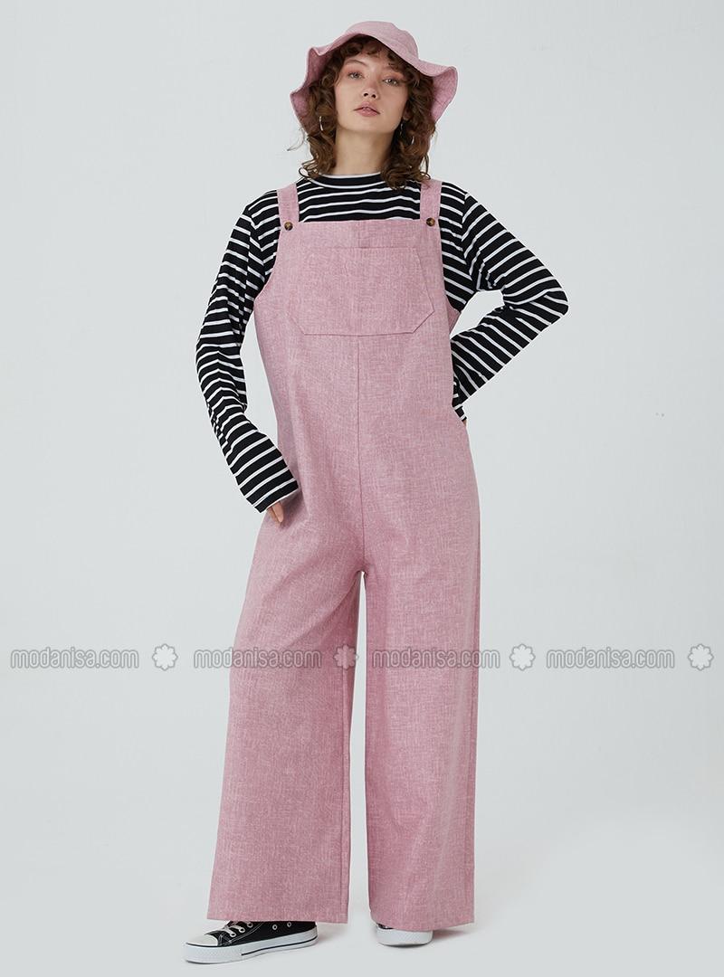 Pink - Unlined - Jumpsuit
