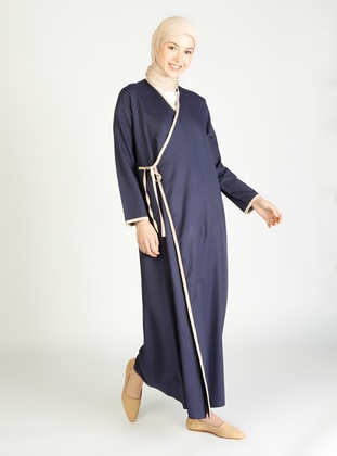 Navy Blue - Stripe - Unlined - Prayer Clothes - SAYIN TESETTÜR - LİVALDİ