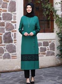 Unlined - Emerald - Crew neck - Evening Suit