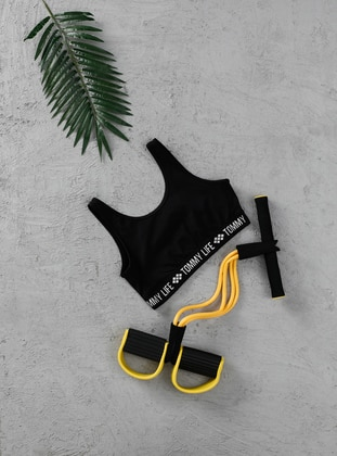 White - Black - Sports Bras