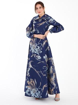 Saxe - Multi - Point Collar - Modest Evening Dress