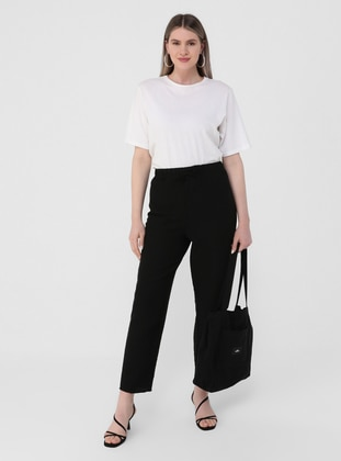 Black - Plus Size Pants