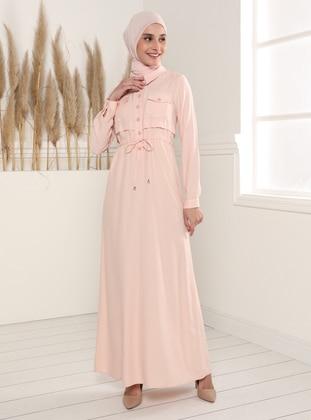 Powder - Point Collar - Unlined - Modest Dress