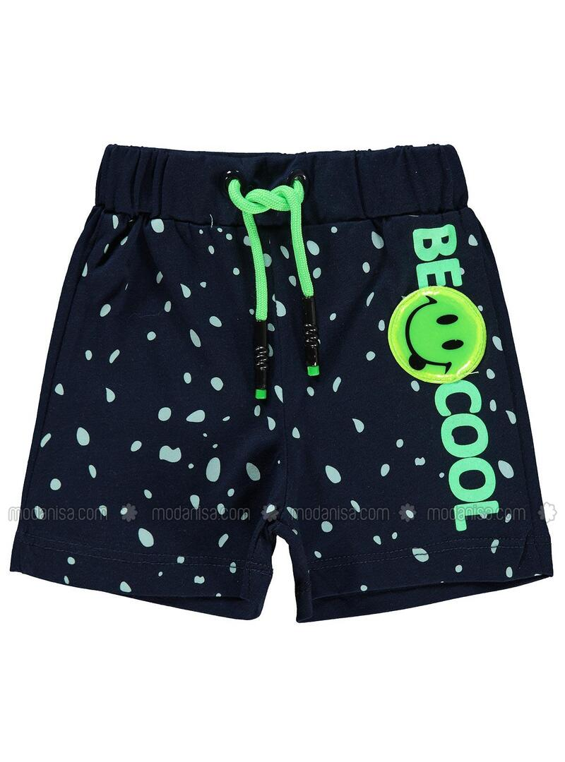 Navy Blue - Baby Shorts