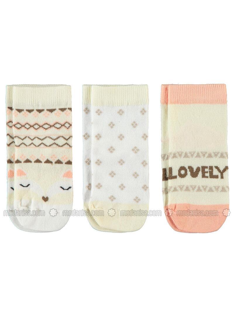 Ecru - Girls` Socks