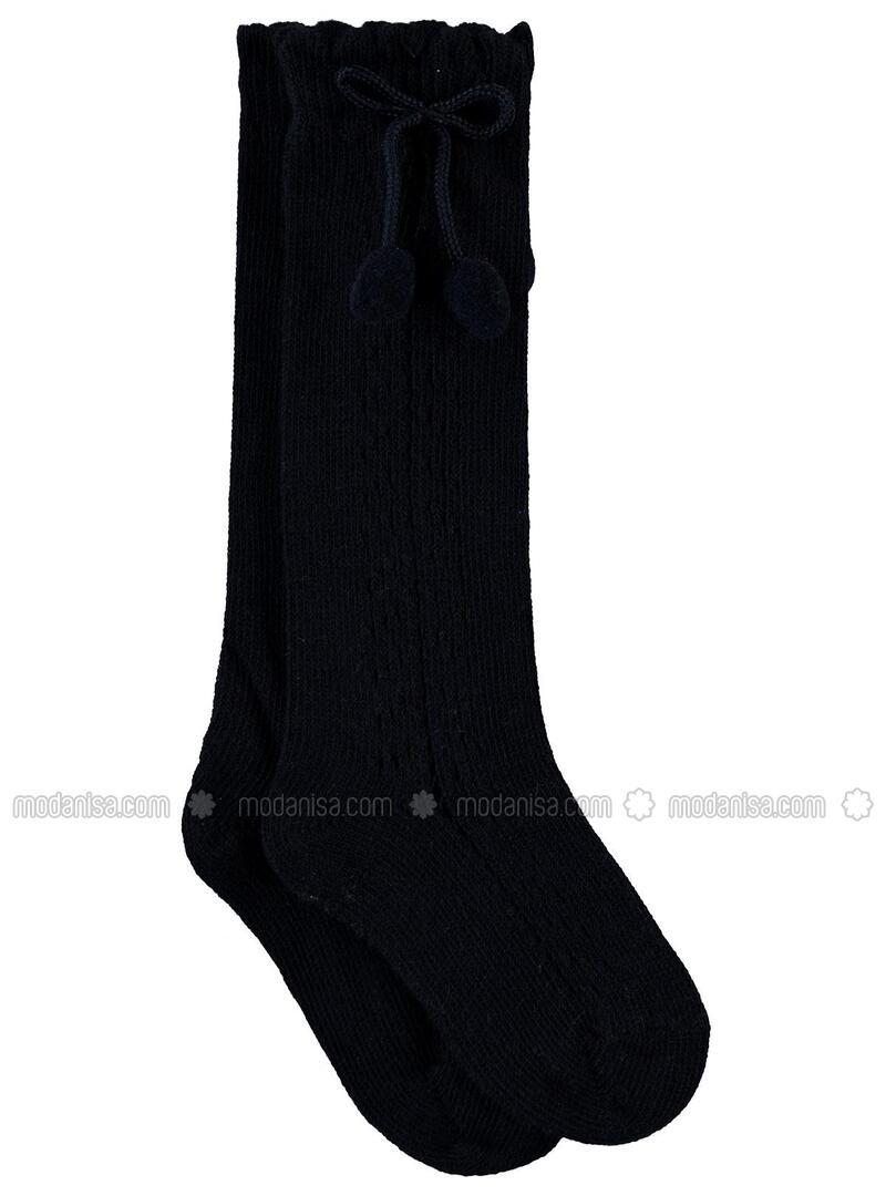 Black - Girls` Socks