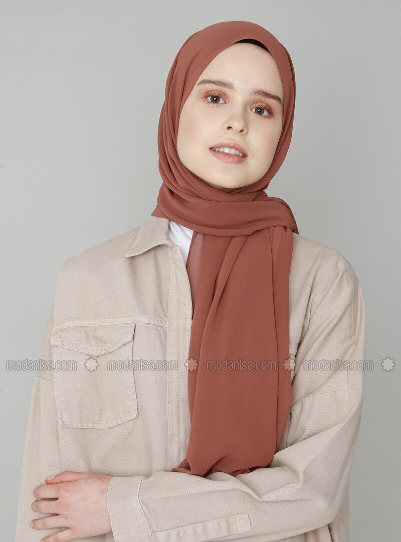 Bronze - Brown - Plain - Shawl