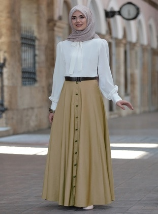 Brown - Unlined - Skirt