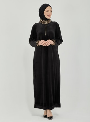 Black - Unlined - Modest Dress