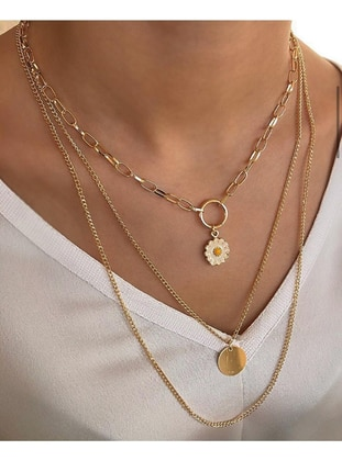 Yellow - Necklace - AYDIN BİJUTERİ