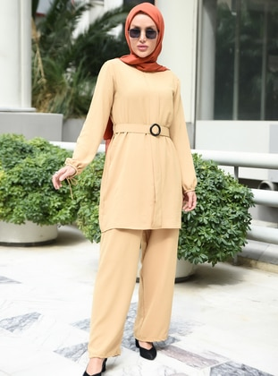 Brown - Caramel - Unlined - Suit