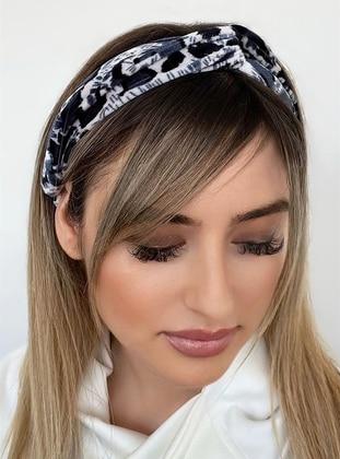Gray - Hairband - Takıştır Bijuteri