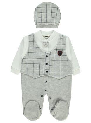 Gray - Baby Sleepsuit - Civil