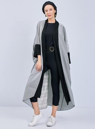Cream - Multi - Unlined - Abaya