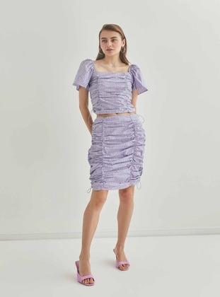Lilac - Plus Size Skirt