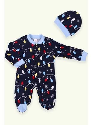 Navy Blue - baby sleepers - Breeze Girls&Boys