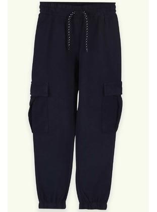 Navy Blue - Boys` Sweatpants - Breeze Girls&Boys
