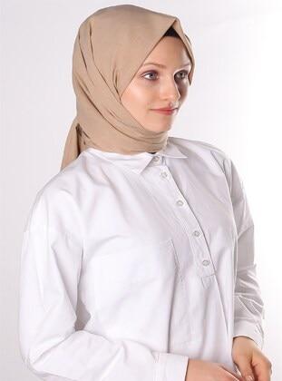 Mink - Plain - Cotton - Shawl