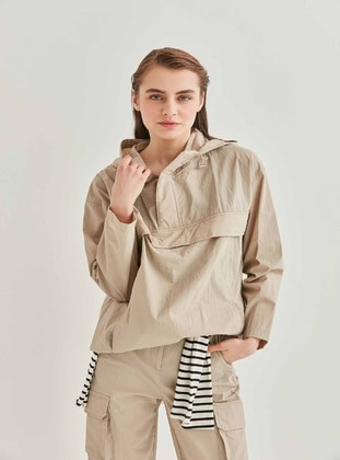 Green - Plus Size Coat