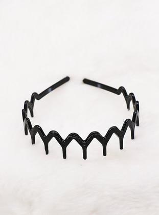 Black - Headband - Takıştır Bijuteri
