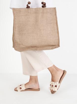 Beige - Sandal - Suit
