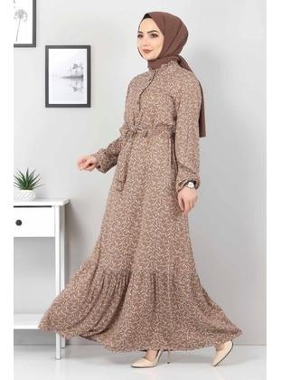 Brown - Modest Dress