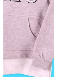 Beige - Girls` Sweatshirt