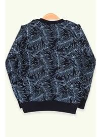 Navy Blue - Girls` Sweatshirt