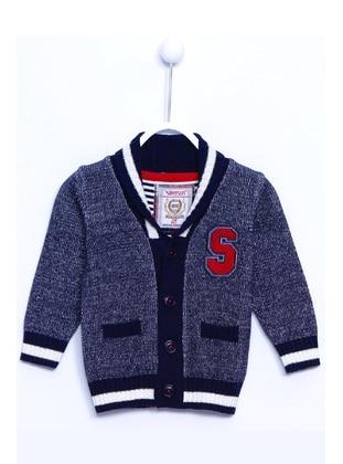 Navy Blue - Baby Cardigan - Silversun