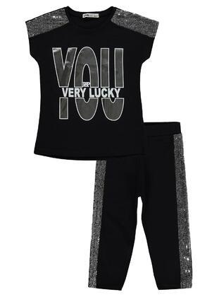 Black - Girls` Suit