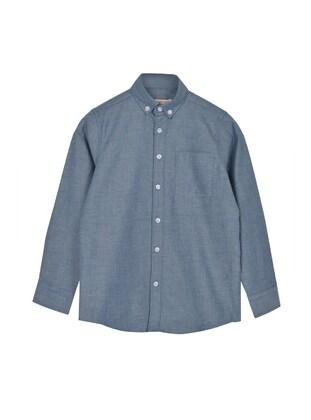 Navy Blue - Boys` Shirt - Silversun