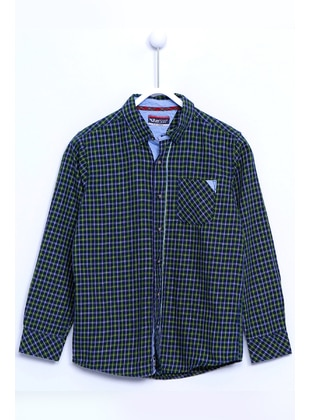 Green - Boys` Shirt - Silversun