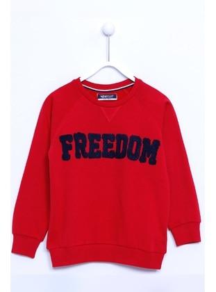 Red - Boys` Sweatshirt - Silversun