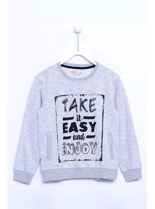 Gray - Boys` Sweatshirt - Silversun