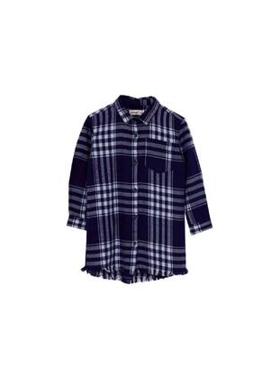 Navy Blue - Girls` Shirt