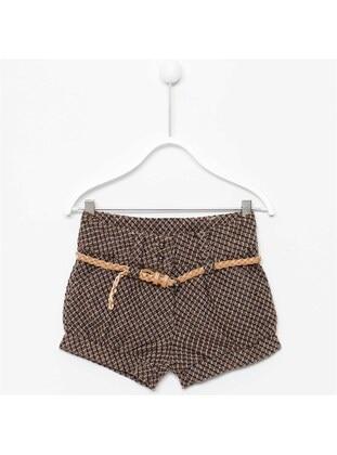Brown - Girls` Shorts - Silversun