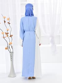 Baby Blue - Unlined - Abaya