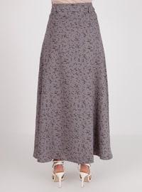 Gray - Multi - Unlined - Skirt