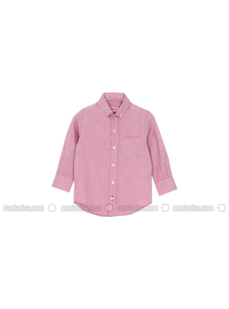 Maroon - Boys` Shirt