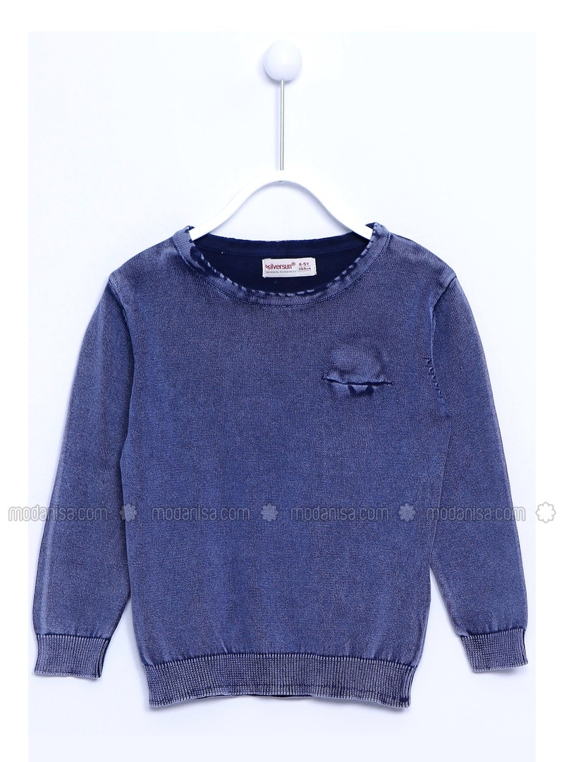 Navy Blue - Boys` Pullover