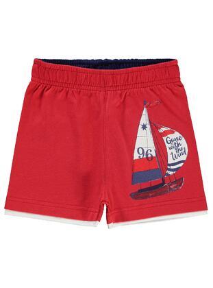 Red - Boys` Shorts - Civil