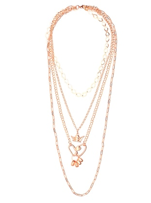 Gold - Rose - Necklace