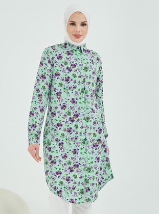 Mint - Multi - Point Collar - Tunic