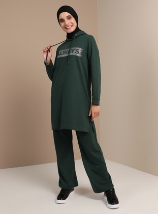 Green - Cotton - Suit