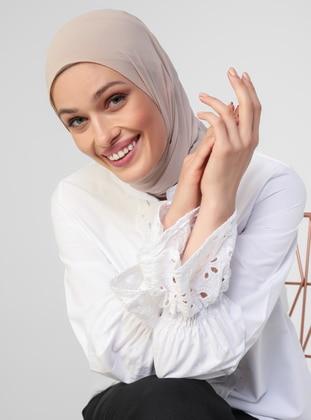 White - Button Collar - Blouses - Refka