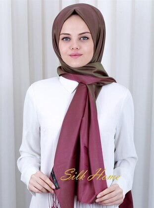 Plum - 100% Silk Shawl - Silk Home
