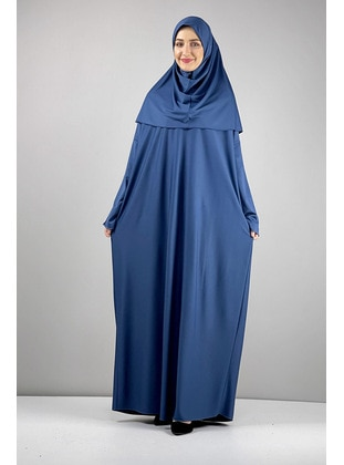 Indigo - Prayer Clothes - MODAPİNHAN