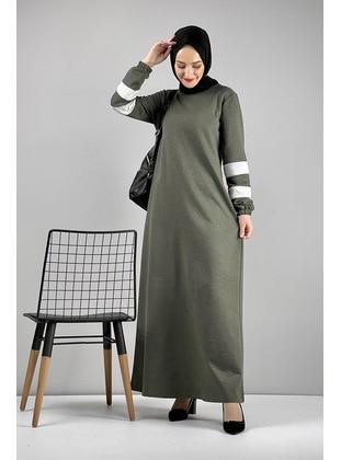 Khaki - Modest Dress