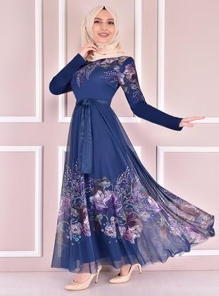 Indigo - Modest Evening Dress
