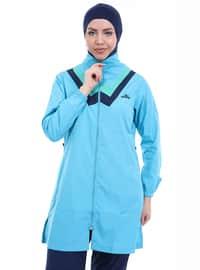 Turquoise - Full Coverage Swimsuit Burkini